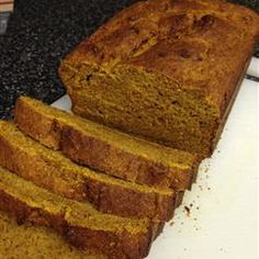 Banana Pumpkin Bread-made this tonight with extra banana and pumpkin and butternut squash seed oil. Super yummy!