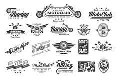 Vintage Motorcycle Labels by TopVectors on @creativemarket