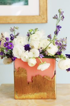 from the bouqs ... add a little sugar or sprite to fresh water once you've run out of flower food packets