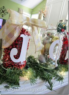 Christmas Jar Decorations