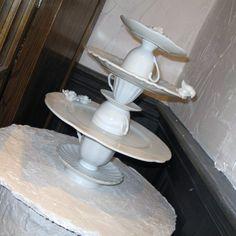 DIY cakestand...plates and teacups
