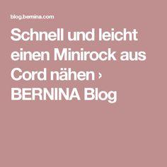 Schnell und leicht einen Minirock aus Cord nähen › BERNINA Blog