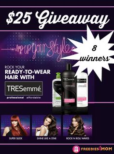 I'm spoiling myself with _________________ if I win a $25 Walmart gift card thanks to @tresemme!!!  {fill in the blank}    8 LUCKY Freebies 4 Mom FANS will win this #AmpUpYourStyle prize!  ENTER DAILY http://freebies4mom.com/tresemmevma #ad