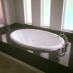"""American Acrylic 58"""" x 39"""" Whirlpool Bathtub Finish:"""