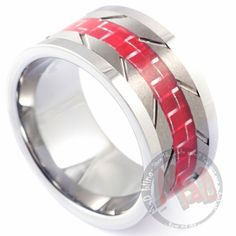 REDLINE MENS WEDDING RING | Tungsten Rings ! Tungsten Carbide Rings all type available here