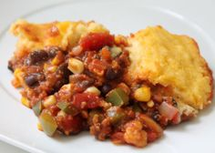 Vegan Tamale Pie, I think the girls might actually eat this if I leave out the bell pepper