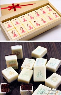 chocolate mahjong - another combination of two of Lil's favorite things