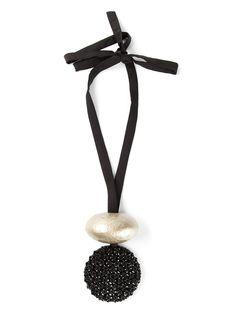MARIA CALDERARA beaded pendant necklace on Vein - getvein.com