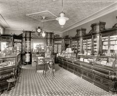 """Washington, D.C., circa 1915. """"Weller's drug store, Eighth & I streets S.E."""" National Photo Company Collection glass negative."""