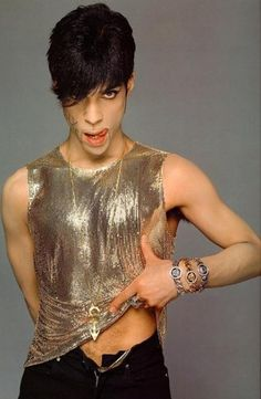 Prince in Versace, 1995.