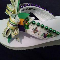Mardi Gras Flip-Flops