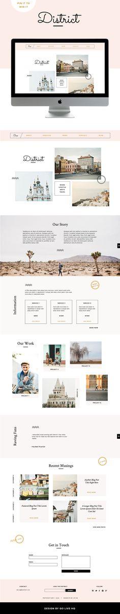 Showit 5 feminine modern website design by golivehq.co