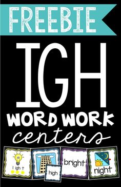 Word Work Centers: Teaching the Long I sound IGH? This FREEBIE contains four word work centers that will have your students stretching out, matching, sorting, and hunting for long IGH words! Reading Groups, Reading Strategies, Reading Skills, Vocabulary Strategies, Vocabulary Games, Word Work Stations, Word Work Centers, Writing Centers, Literacy Stations