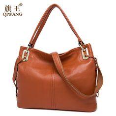 48d7a3bafec2 Qiwang 100% натуральная Пояса из натуральной кожи OL Стиль Для женщин сумка  женская Сумки на