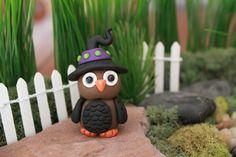 Pâte polymère pâte hibou  Miniature chouette  par GnomeWoods