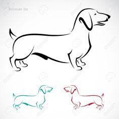 Image D'un Chien Teckel Sur Un Fond Blanc Clip Art Libres De Droits , Vecteurs Et Illustration. Image 20360745.