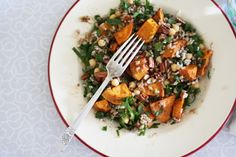 Sweet Potato and Brown Rice Salad by asplashofvanilla: Rustic, healthy and nutty, great for a brown bag lunch! #Salad #Sweet_Potato #Rice #asplashofvanilla