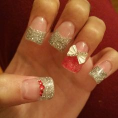 I did my own nails. Prechristmas