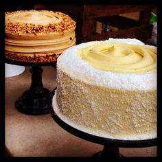Coffee and walnut cake plus mango, coconut and passion fruit cake by Sweet Tooth Factory at the Caffe Culture Show