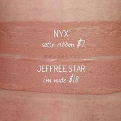 First @nyxcosmetics Lip Lingerie dupe! We love both of these, so you'll win either way ☺.