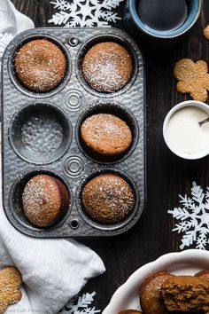 Gluten Free Gingerbread Muffin - January 14 2019 at - and Inspiration - Yummy Fatty Meals - Comfort Foods Recipe Ideas - And Kitchen Motivation - Delicious Steaks - Food Addiction Pictures - Decadent Lifestyle Choices Vegan Recipes Plant Based, Healthy Dessert Recipes, Healthy Snacks, Desserts, Gingerbread Muffins Recipe, Gluten Free Gingerbread, Healthy Muffins, Easy Healthy Breakfast, Fat Burger