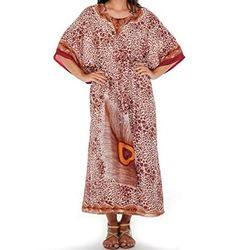 Awesome Awesome Women's Dress Peacock Print Caftan Beach Cover up Vintage Maxi Kaftan Brown Wine 2017 2018 Maxi Kaftan, Dashiki Dress, African Dashiki, Peacock Print, Girls Blouse, Beach Wear, House Dress, Party Shirts, Blouses For Women