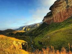 """Exciting places to visit in South Africa. Clarens is a small town situated in the foothills of the Maluti Mountains in the Free State province of South Africa and nicknamed the """"Jewel of the Eastern Free State"""". Provinces Of South Africa, Free State, Life Is A Journey, Rest Of The World, Countries Of The World, Live, Golden Gate, Small Towns, Monument Valley"""