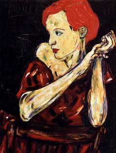 16-Pelirroja. Pintura al óleo. 100 x 81 cm  http://www.saatchionline.com/art-collection/Painting-Mixed-Media/Expresiones-de-CARMEN-LUNA/71968/25377/view