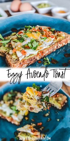 Eggy Avocado Toast - Kels in Wonderland Mashed Avocado, Avocado Toast, Snack Recipes, Healthy Recipes, Snacks, Calorie Counting, Poached Eggs, Salmon Burgers, Delish