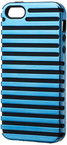 Amazon.co.jp: iwave iPhone 5/5s専用 Stripe Case ブルー/ブラック ICP5066-BL: 家電・カメラ