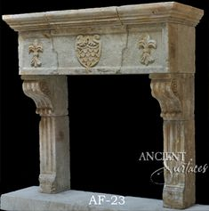 tudor style fireplace   Antique Limestone Fireplace Mantel in ...