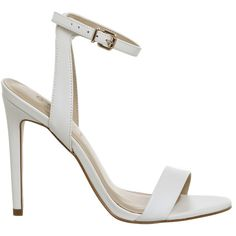 Office Alana Single Sole Sandals White Leather ($78) ❤ liked on Polyvore featuring shoes, sandals, leather footwear, white sandals, white shoes, leather shoes and real leather shoes