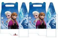 Frozen: Caja para Lunch, para Imprimir Gratis.   Ideas y material gratis para fiestas y celebraciones Oh My Fiesta!