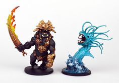 As promised, here are the rest of the Blood Rage pieces from my recent commission. Above are the Gods of Asgard. From left to right: Odin...