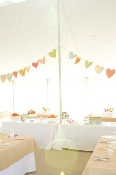 cutest heart pennants + love the soft colors...would also be great for a bridal/baby shower