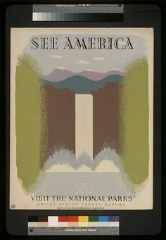 Posters & Prints Yosemite Falls See America Visit National Parks Wpa Art Vintage Poster & Garden