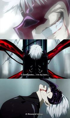 Tokyo Ghoul. this scene . its awesome and great and it throws the feels at u!! *cries*