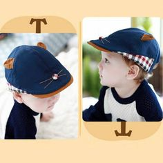 Fashion cat flat caps with ears for baby cheap blue sun protection hats Cat Flats, Rules For Kids, Sun Protection Hat, Flat Cap, Kids Hats, Inventions, Baseball Hats, Cats, Basketball