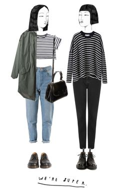 """we're super"" by ohsweetmelancholia ❤ liked on Polyvore featuring Dr. Martens, Steven Alan, Fendi, Topshop and Comme Comme"