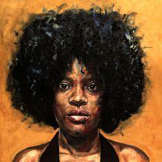 """Rebecca"" 60x60cm Portrait Painting by Paul Arts at NUMA Gallery"