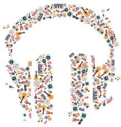 Google Play Music by Zachary Gibson, via Behance
