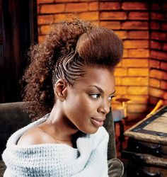 Natural Hair Braided into Updo | ... braided hairstyles | thirstyroots.com: Black Hairstyles and Hair Care