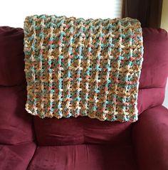 Crochet Lapghan warm lap wheelchair afghan blanket by VTmadeCrafts