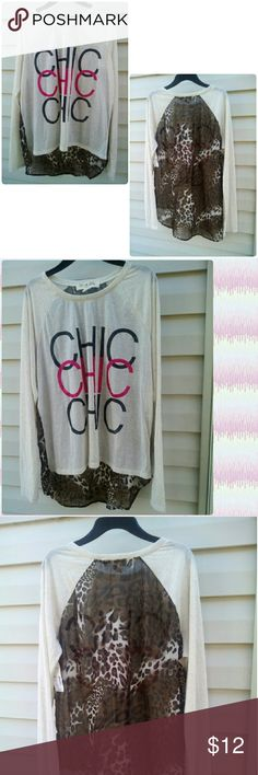 Cute hi low top with chic chic chic designs Be you in this gorgeous chic and animal print top hi low design . wound up Tops