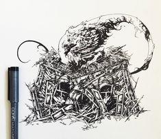 查看此 @Behance 项目: \u201cInk / Sketches 2\u201d https://www.behance.net/gallery/44326453/Ink-Sketches-2