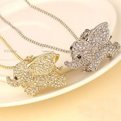 It's not disney, but this elephant necklace reminds me of Dumbo  :) @lillie jones these are cute!