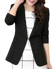 ainr Women's Winter Elegant Long Sleeve Solid Color Lapel Office Suit Blazers Black L Women's Clothes, Clothes For Women, Black Blazers, Blazer Suit, Suits, Elegant, Long Sleeve, Winter, Womens Fashion