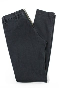 Acne Jeans (Women's Pre-owned Charcoal Gray Cotton 2 Pocket Skinny Mid-Rise Designer Jean Pants)