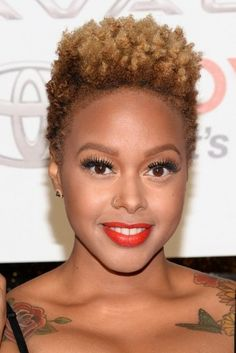 Chrisette Michelle ...embracing our kinky, curly, coily, straight, braids, twist, snatched hair-- black hair