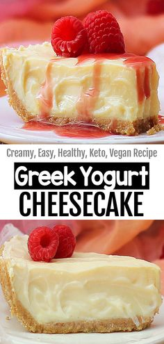 The Best Creamy High Protein Greek Yogurt Cheesecake Whole Food Desserts, Healthy Desserts, Whole Food Recipes, Delicious Desserts, Yummy Food, Diabetic Desserts, Greek Yogurt Cheesecake, Greek Yogurt Protein, Chocolate Cheesecake